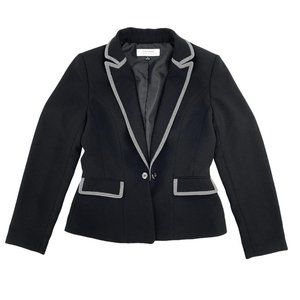 TAHARI Arthur S. Levine Black Blazer Size 8 Long S